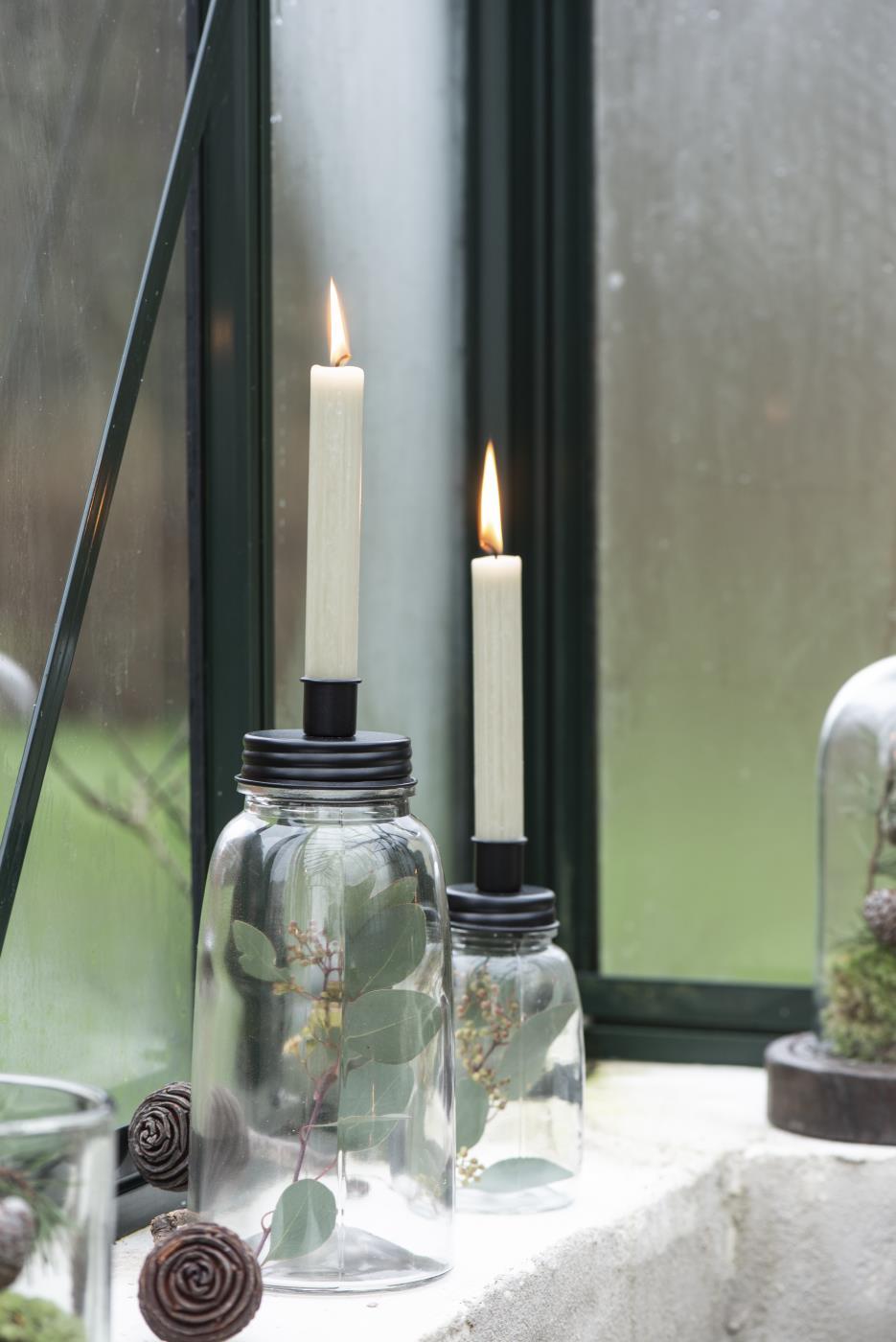 Kerzenhalter  Metalldeckel hoch ib laursen