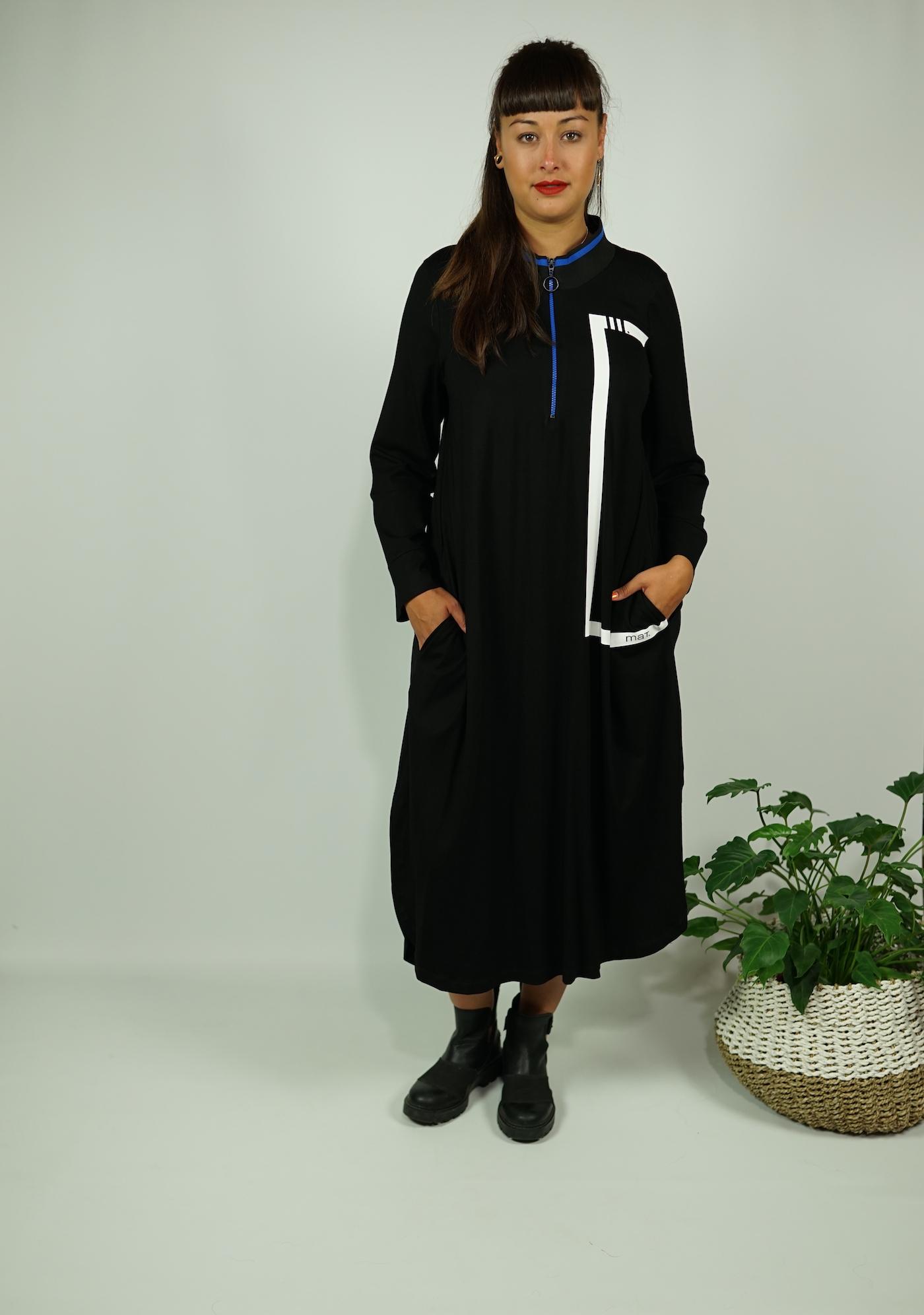 Kleid lang blau MAT