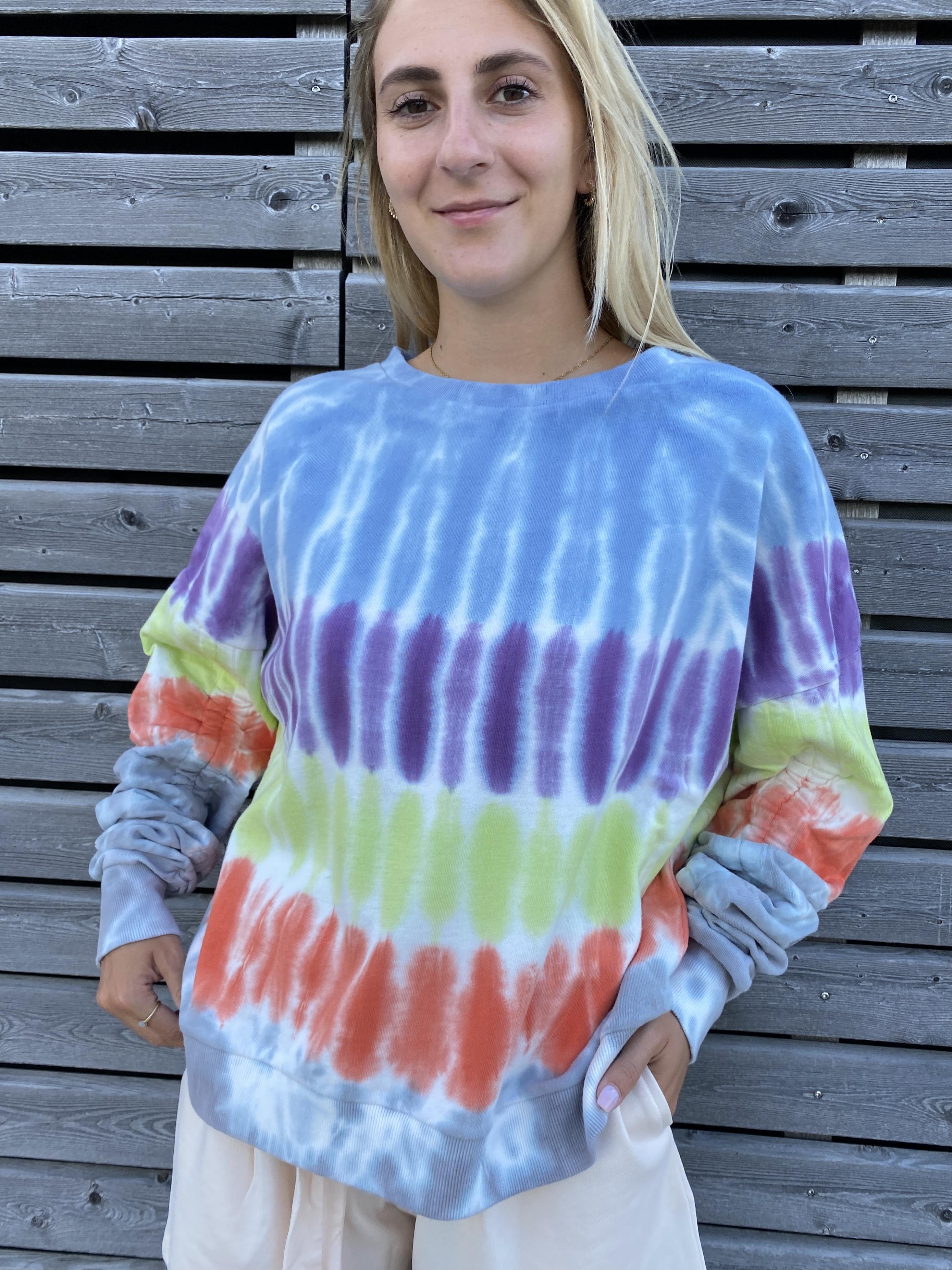 Sweatshirt batik - Love joy Victory