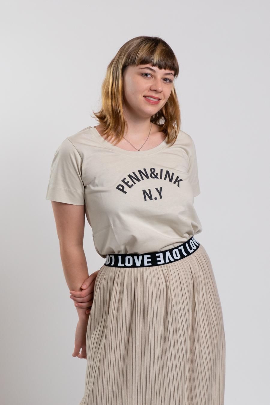 T-Shirt mit Druck Penn&Ink N.Y
