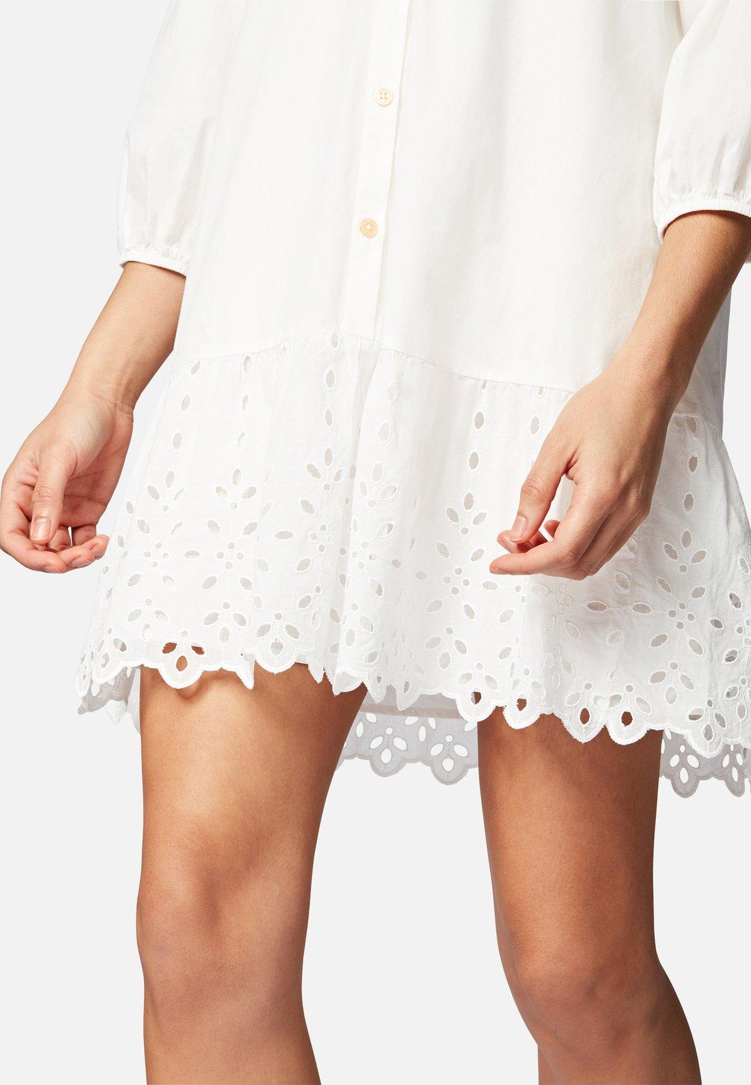 Kleid weiß Lochmuster - Mavi