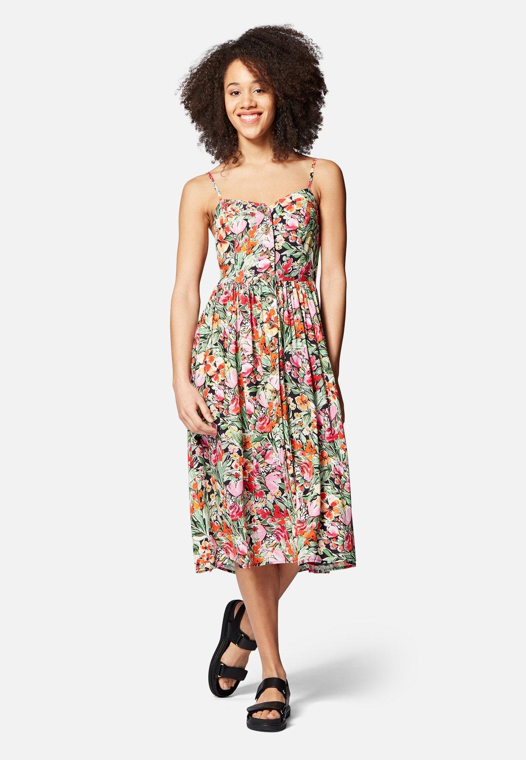 Kleid print mit Knöpfen - Mavi