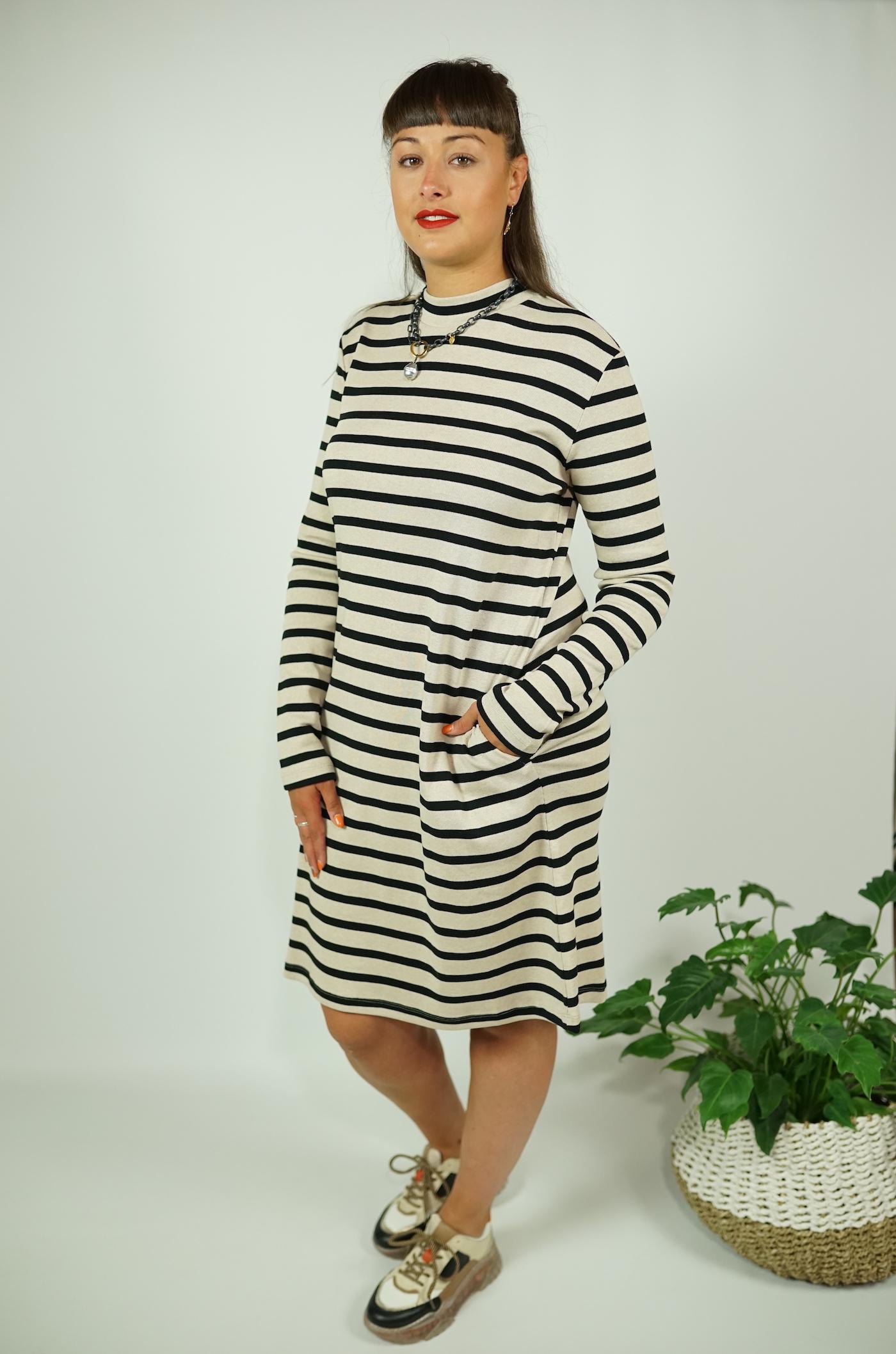 Kleid Streifen Biobaumwolle Lanius