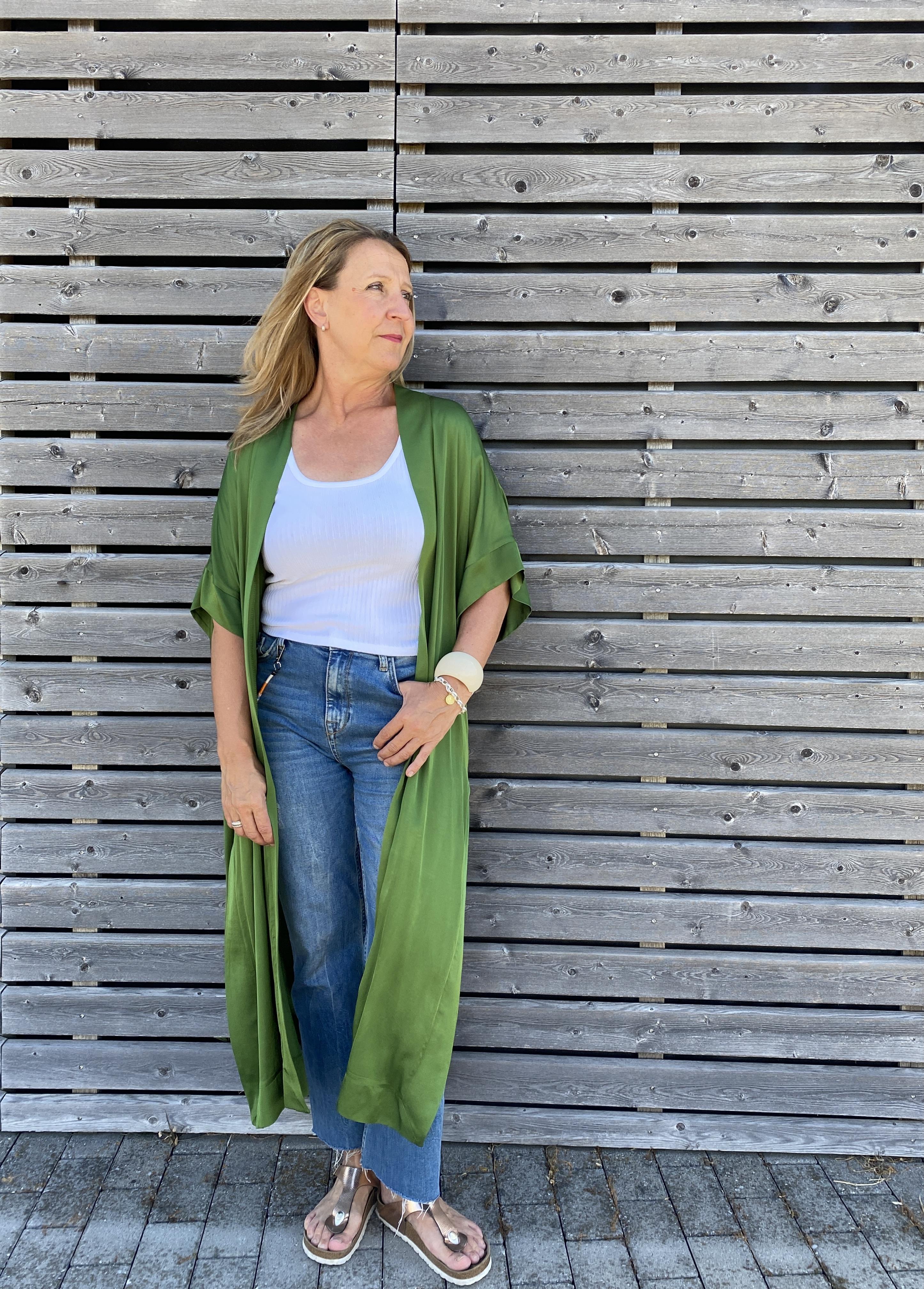 Kimono grün - Matfashion