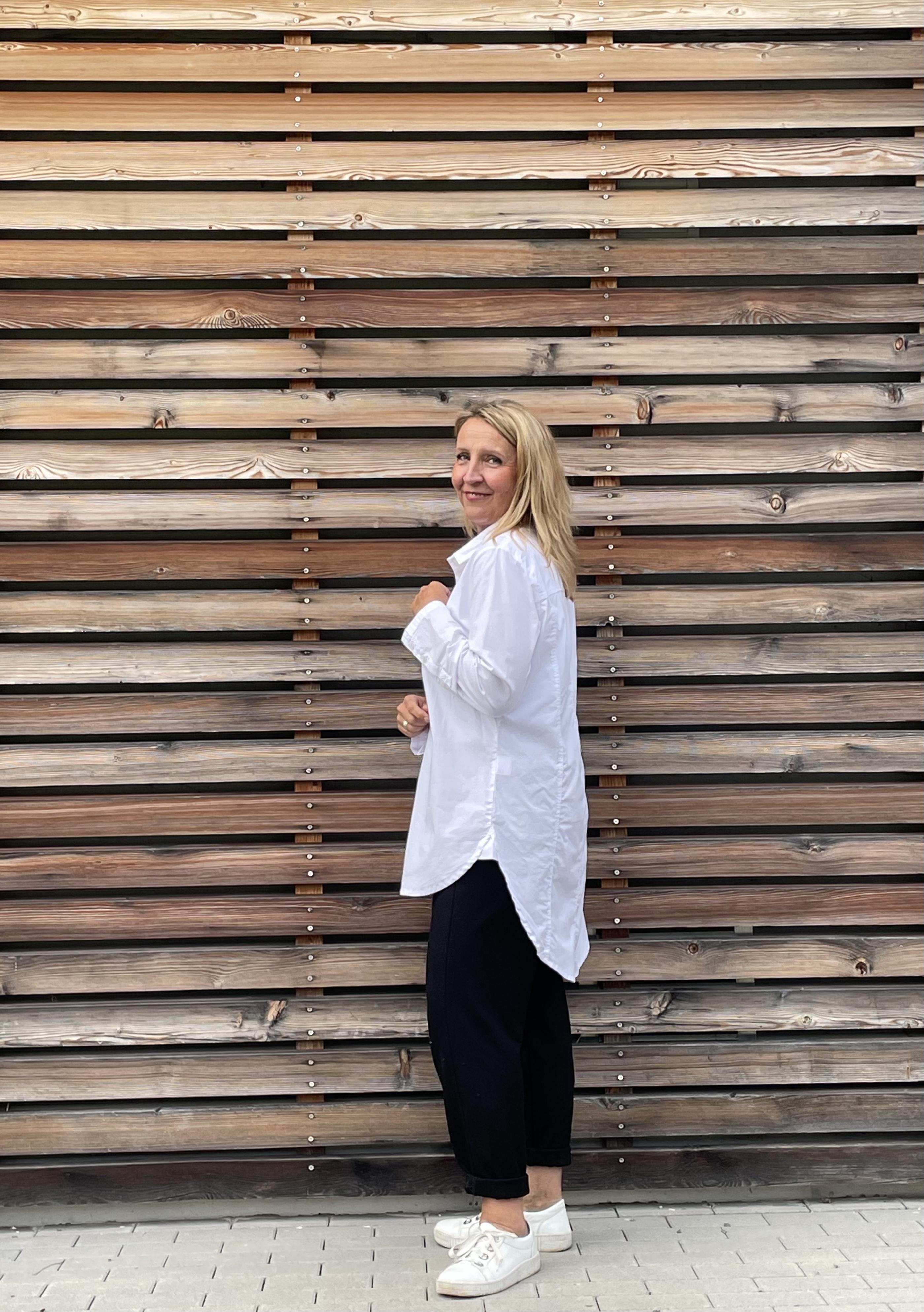 Bluse long weiß - Elli