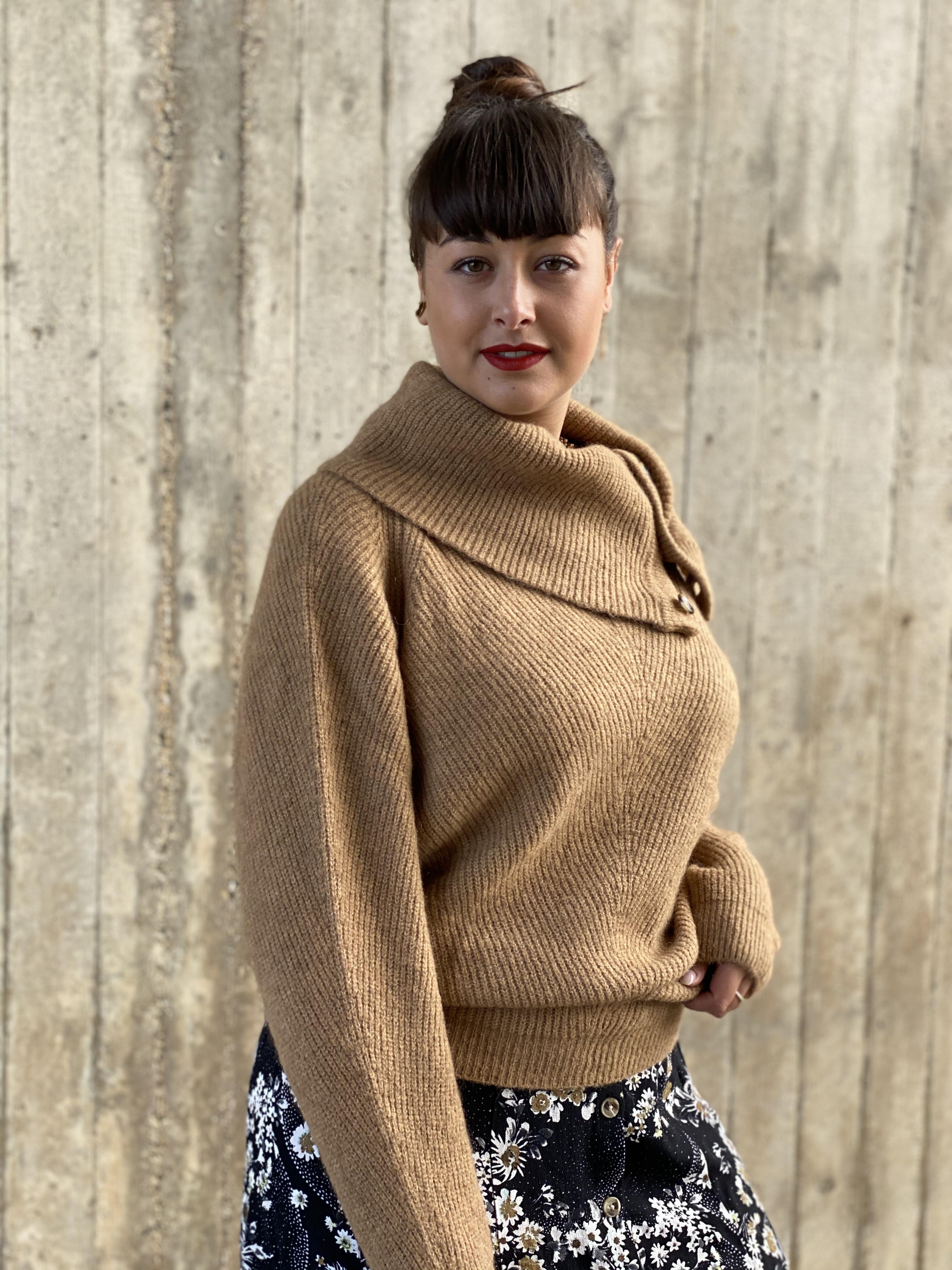Pullover camel - summumwoman
