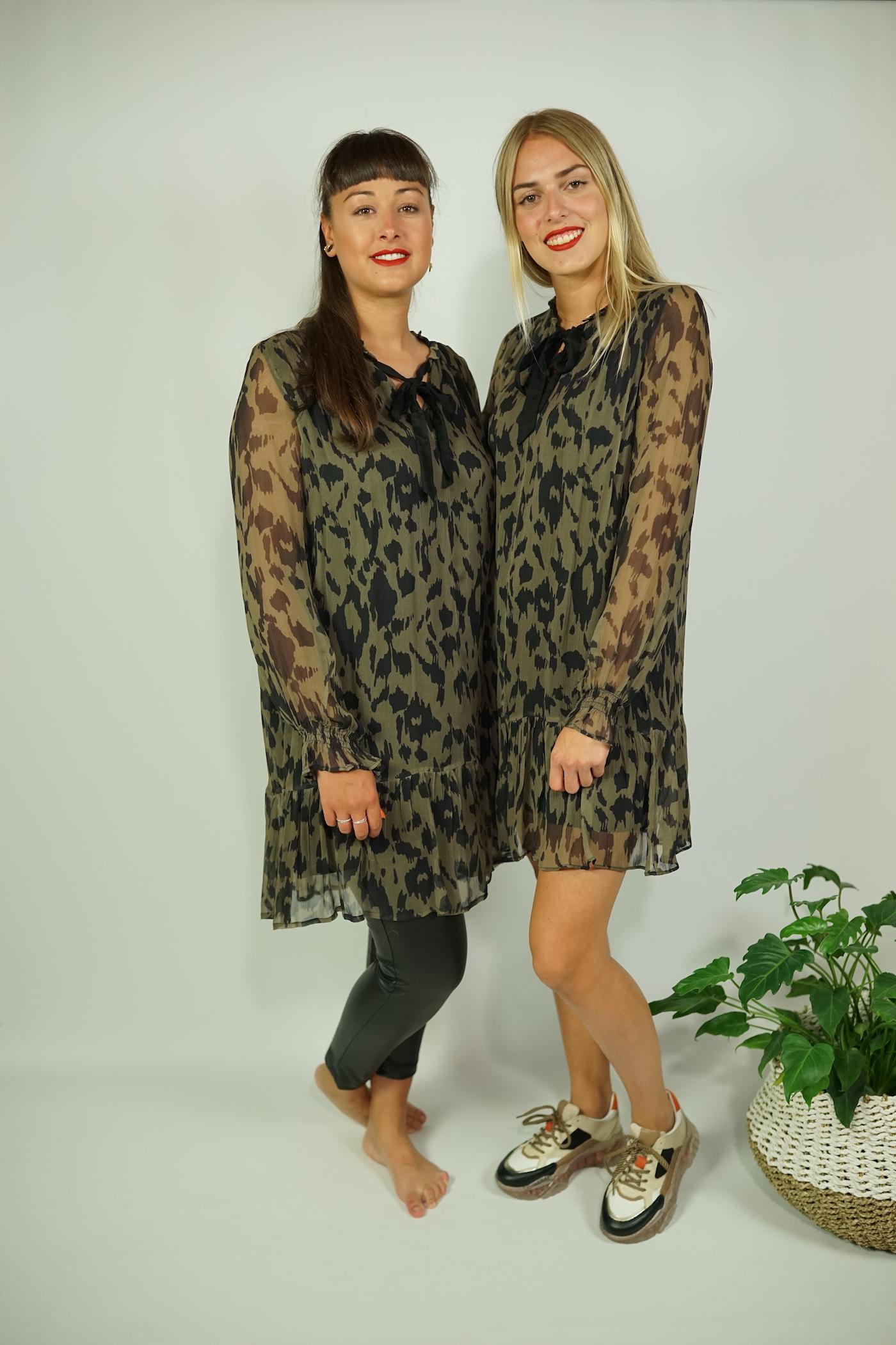 Kleid khaki/leo - Frogbox