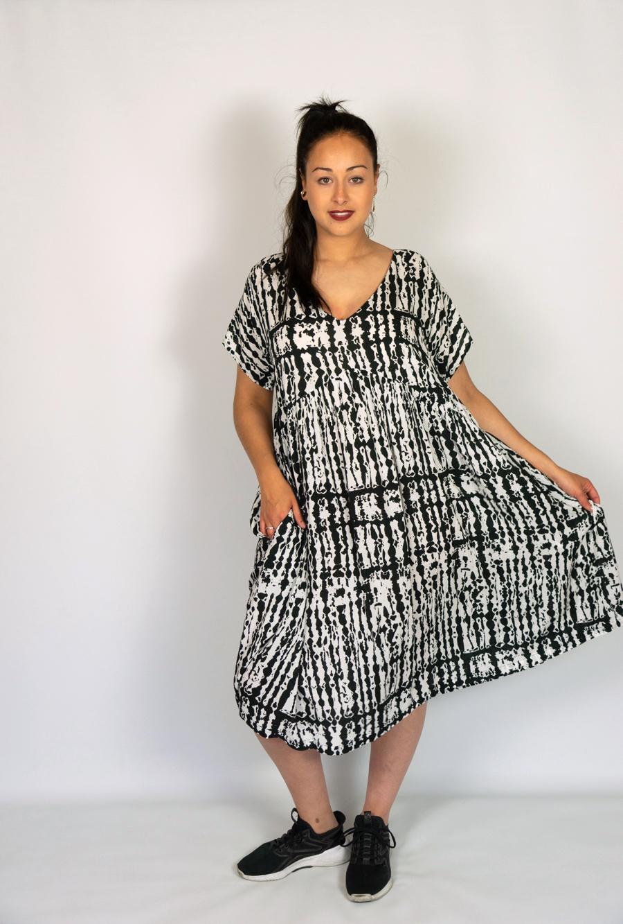 Kleid Muster - Matfashion