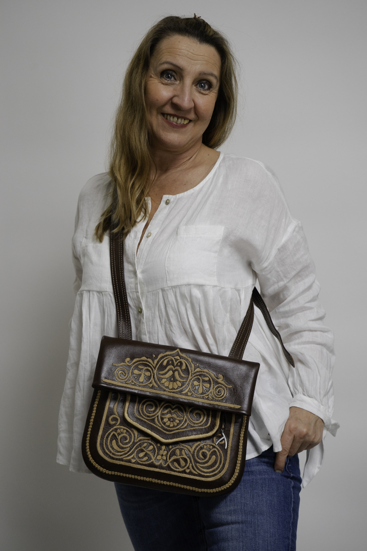 Tasche Berber braun beige Abury