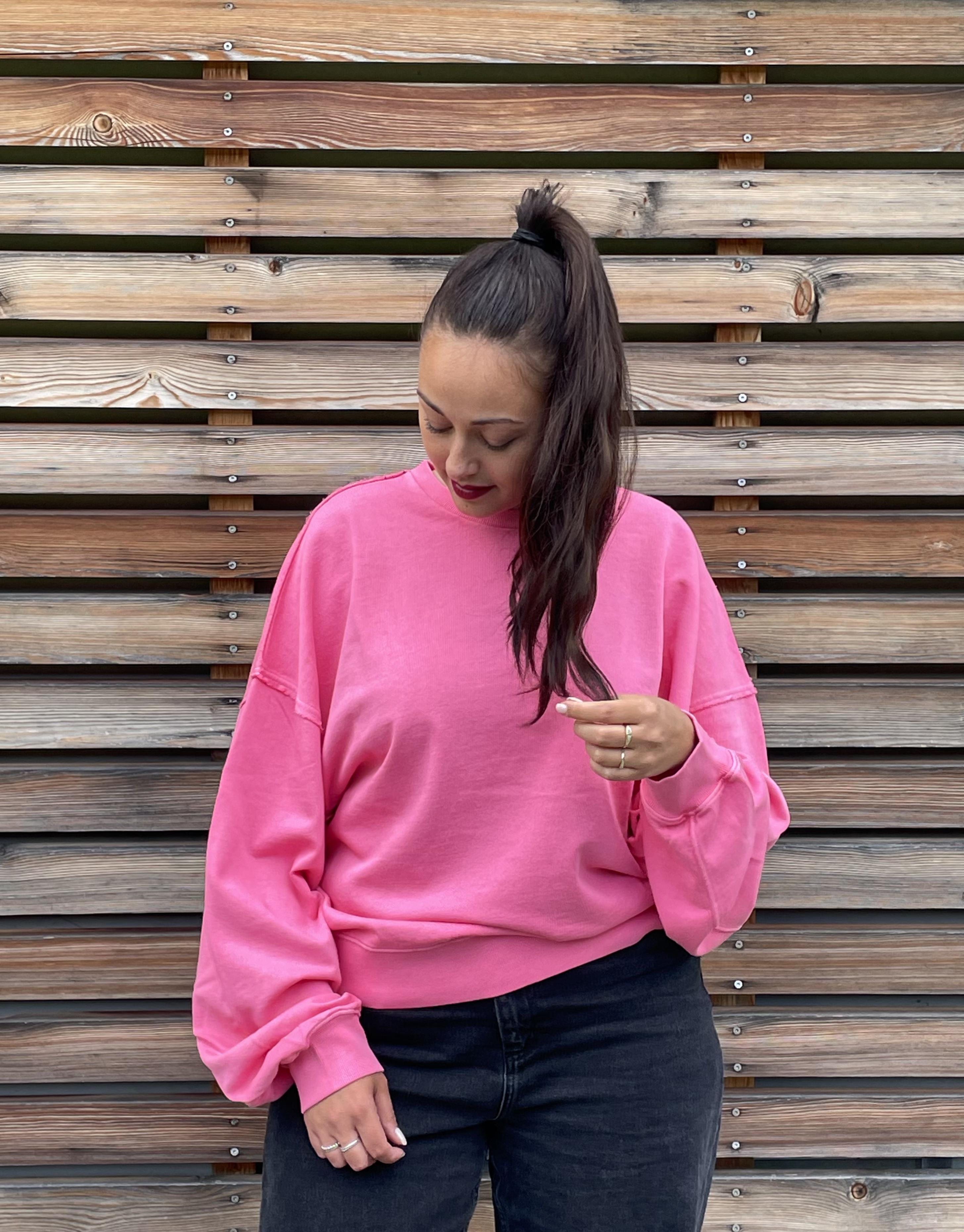 Sweatshirt pink flamingo - Love Joy Victory