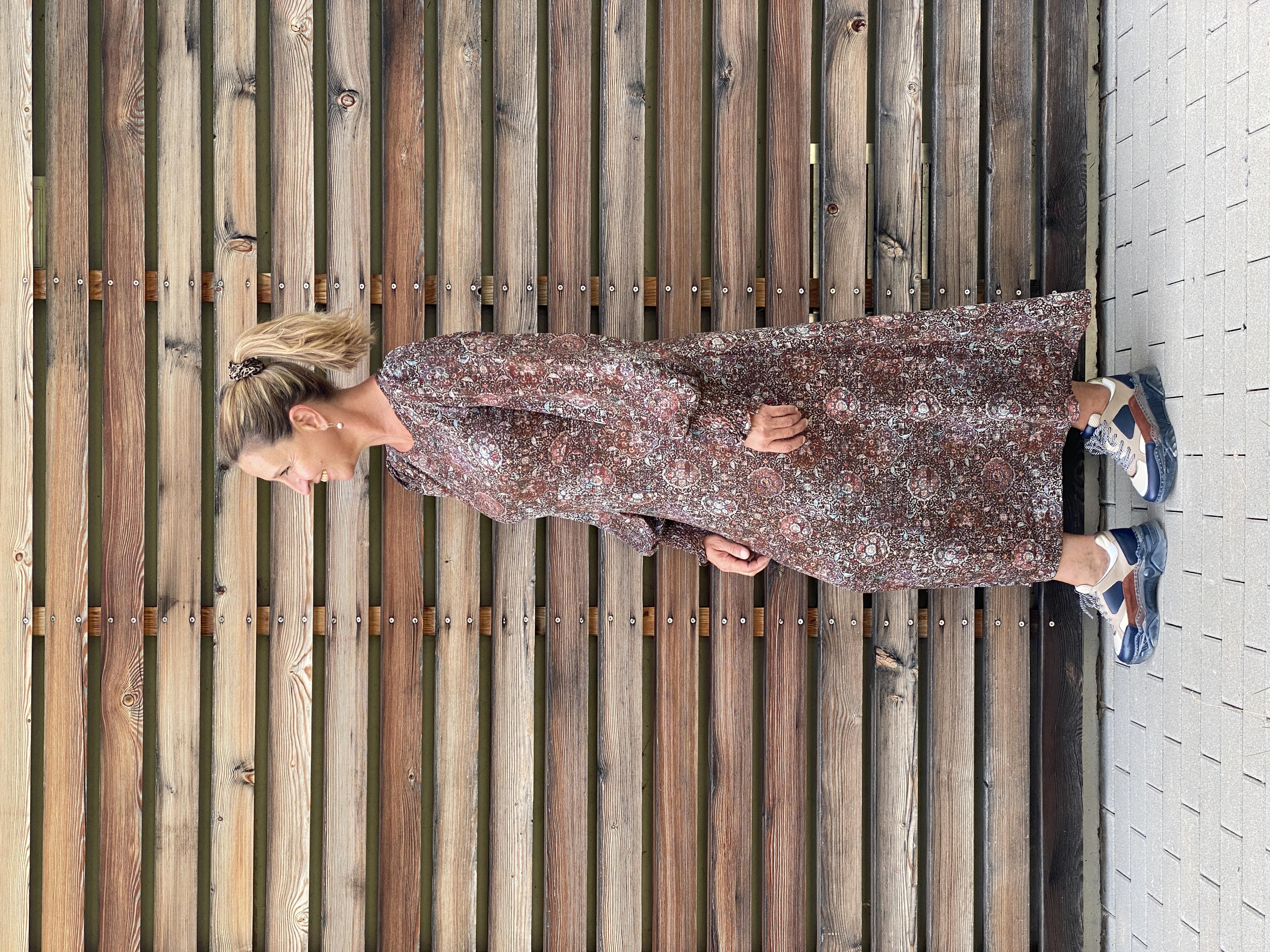Maxikleid bedruckt - Summum Woman