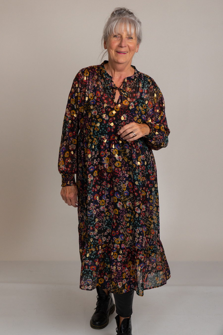 Kleid Midi floral - Mavi