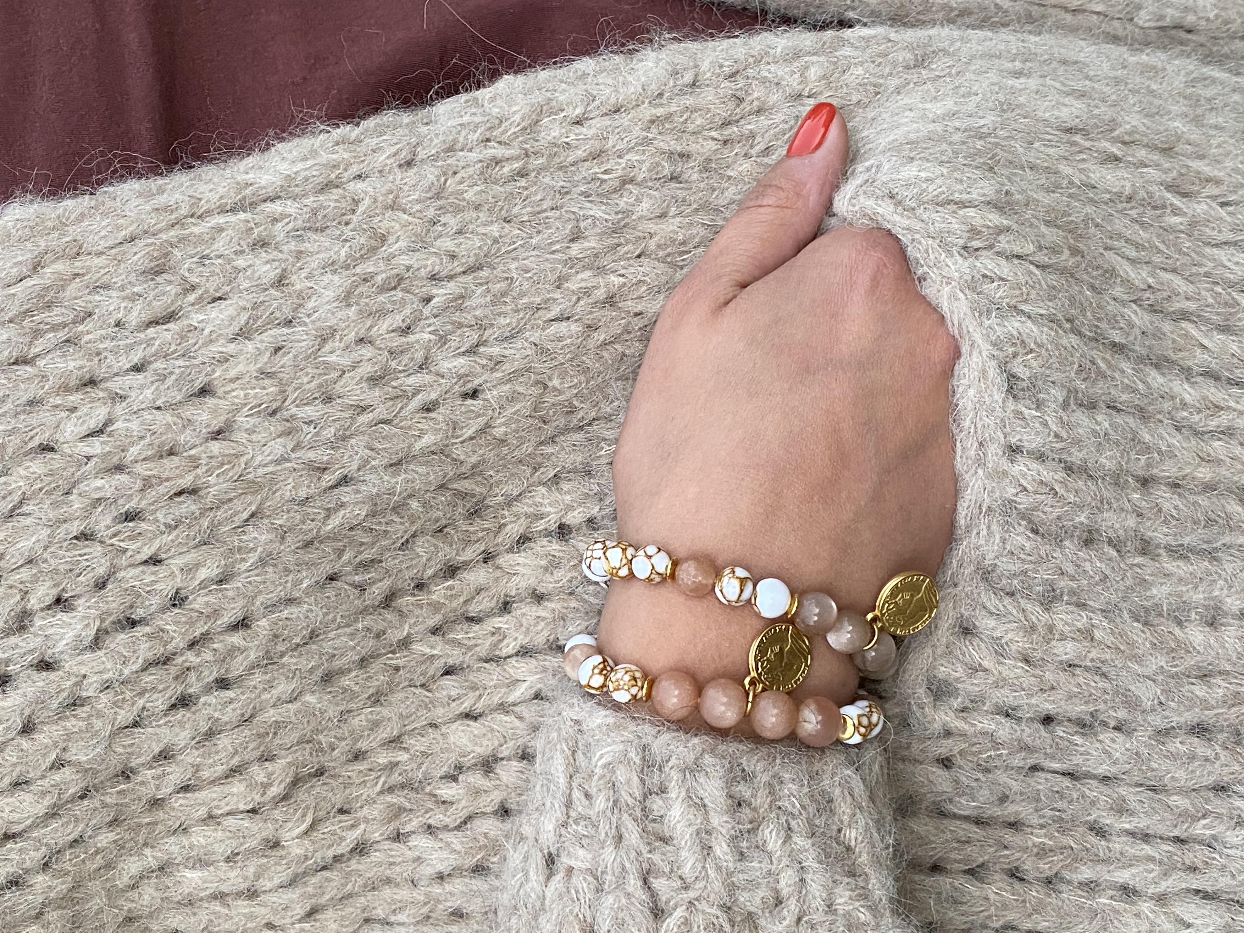 Armband Hoola nougat Runteschmuck